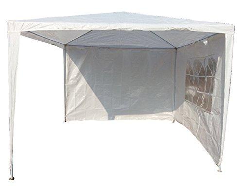 Pavillon Pavillion Gartenzelt Zelt Festzelt Partyzelt Weiß + zwei Seitenteile