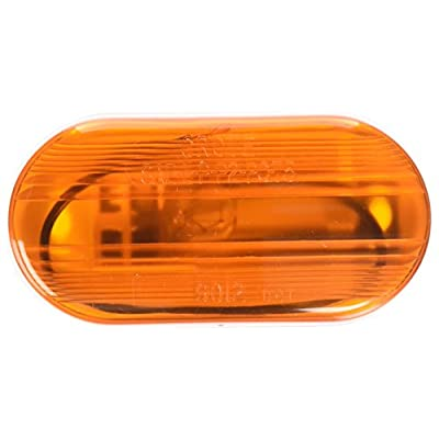 Grote 46703-5 Yellow Single-Bulb Oval Clearance Marker Light (Optic Lens, Retail Pack): Automotive