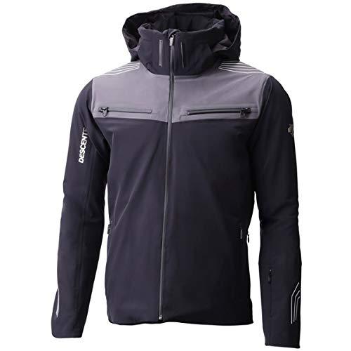 Descente Mens Swiss Ski Team Jacket (Black/Gun Metal/Medium)