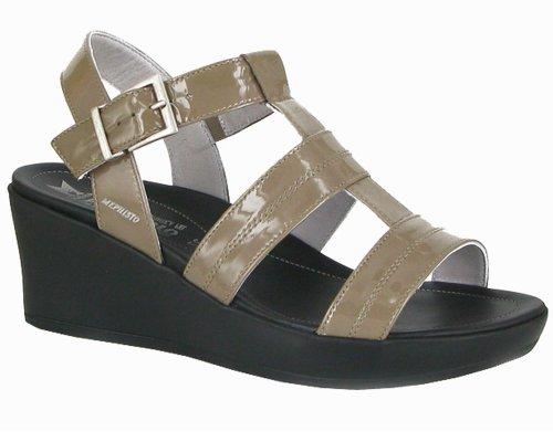 parzia Beige Méphisto Patent Sandal 4237 Sko kone ERRqfn0x