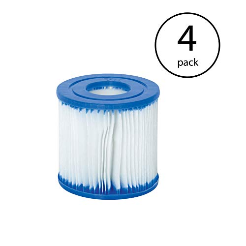 - Bestway Swimming Pool Filter Pump Replacement Cartridge Type VII and D (4 Pack)
