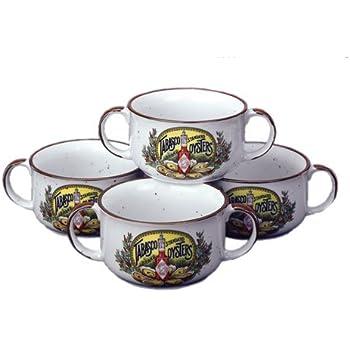 Amazon Com Tabasco Antique Label Soup Bowls Set Of 4