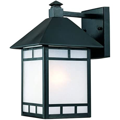 Acclaim 9012BK Artisan Collection 1 Light Wall Mount Outdoor Light Fixture Matte Black