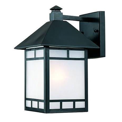 Acclaim 9012BK Artisan Collection 1 Light Wall Mount Outdoor Light Fixture,  Matte Black