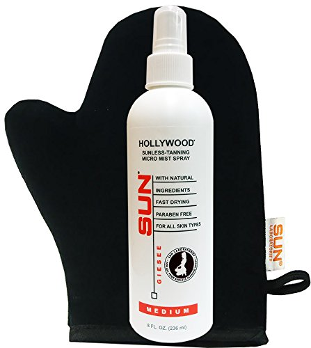 Spray Tan Hollywood Medium 8oz Micro-Mist Self Tanner +Tanning - To Fake Product Best Bake Use