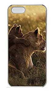 iPhone 5 5S Case African Lions Pictures PC Custom iPhone 5 5S Case Cover Transparent