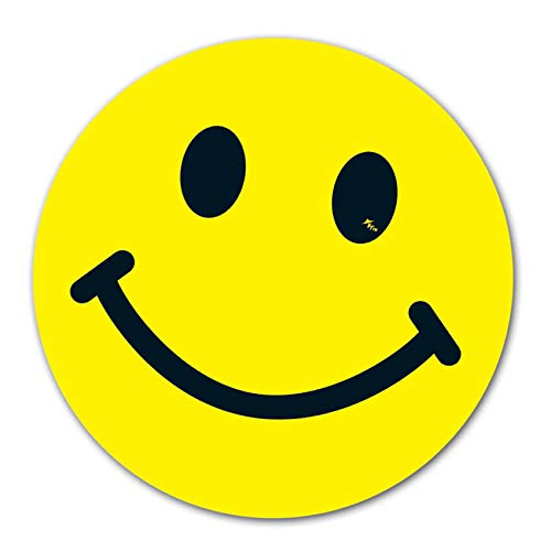 Vinyl Face - Donkey Auto Products Happy Smiley Faces Vinyl Window Stickers (with or Without Sunglasses) (Yellow 6