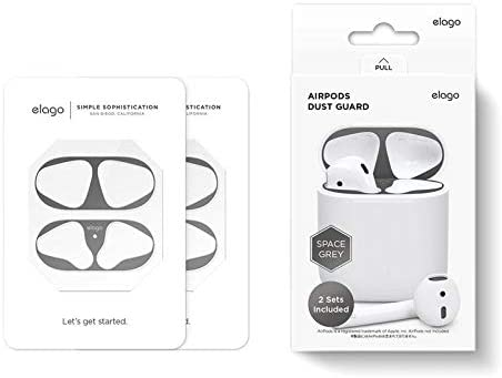 Elago Dust Guard For 2 Sets For Airpods 1 And Airpods 2 Gold