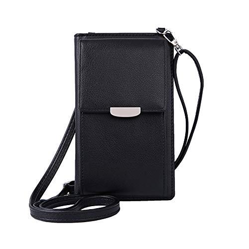 (VIVI MAO Summer Small Crossbody Bag, Cell Phone Purse Wallet with 2 Adjustable Shoulder Strap Handbag for Women (A_black))