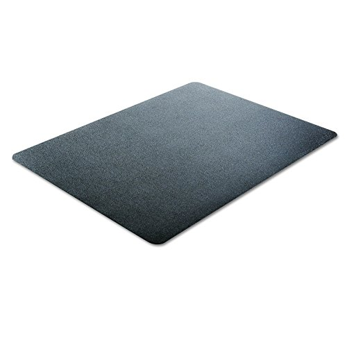 deflecto CM21242BLK EconoMat Anytime Use Chair Mat for Hard Floor 45 x 53 Black Photo #2