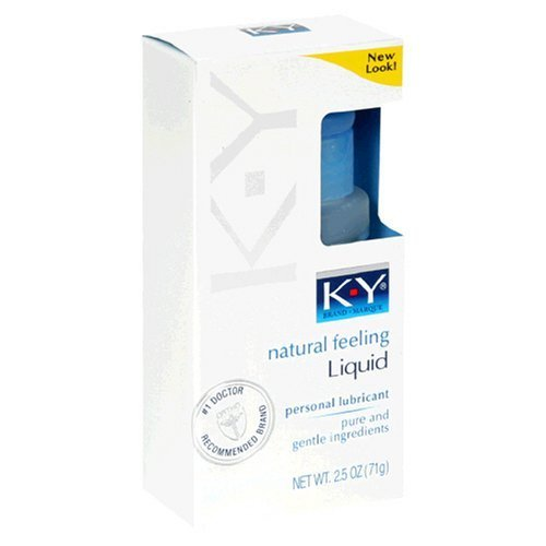 K-Y Personal Lubricant, Natural Feeling Liquid, 2.5-Ounce...