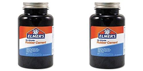 Elmer's No-Wrinkle Rubber Cement, 2 Packs