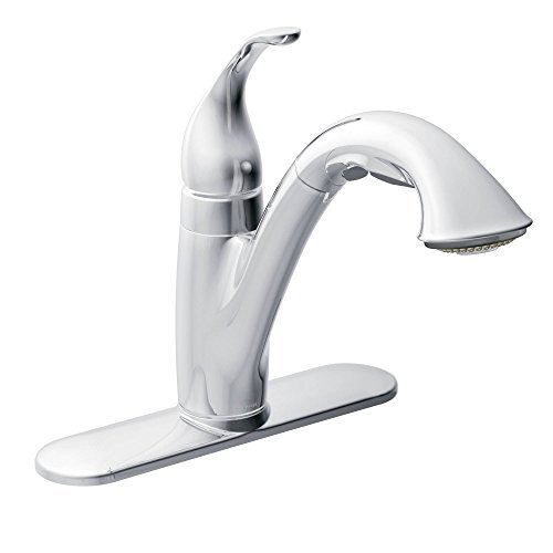 Moen 7545C Camerist Single-Handle Kitchen Faucet with Pullout Spout, Chrome by Moen by Moen