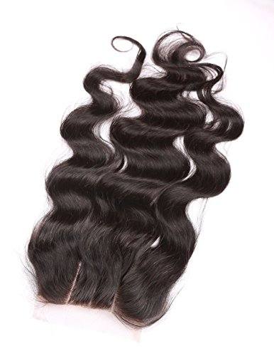 Fennell 3 Part Closure Body Wave Virgin Brazilian Hair 130% Density Lace Closure Natural Hair Color Soft and Silky(8''-20'') (8 inches) by Fennell (Image #3)
