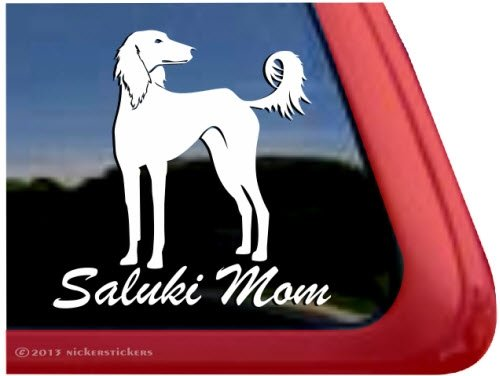 (Saluki Mom ~ Hound Dog Window Car Auto Vinyl Decal Sticker)