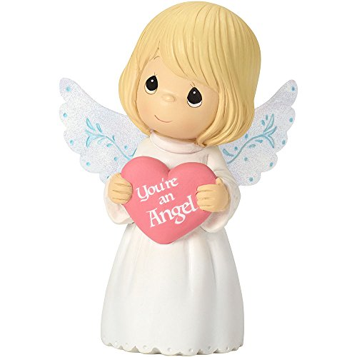 Figurine Heart (Precious Moments 162401 You're An Angel, Mini Resin Figurine)