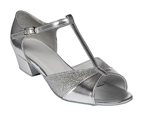 Silver Glitter Chaussures De Salle De Bal - Tappers & Pointers AMBRE