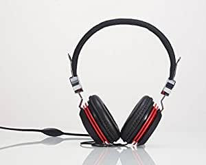 Premium Over-Head Stereo Headset Headphones with Microphone for Samsung Galaxy S4/ S4 Active/ A5/ Mega 6.3/ S4 mini/ Grand 2/ S3/ ATIV SE/ S3 Neo/ (Red) + MYNETDEALS Stylus