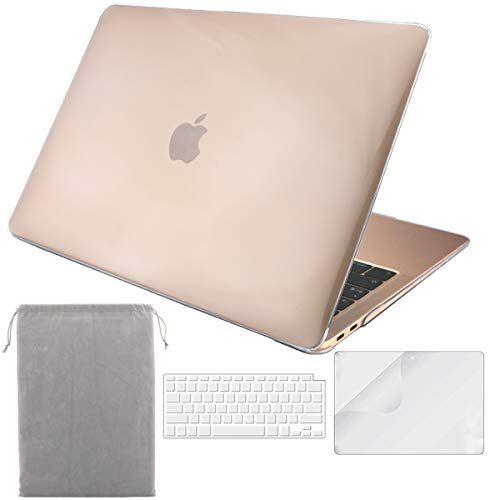 Sykiila for 2018 New MacBook Air 13 Inch Case (Model A1932,with Touch ID & Retina Display) 4 in 1 Hard Cover + HD Screen Protector + TPU Keyboard Cover + ()