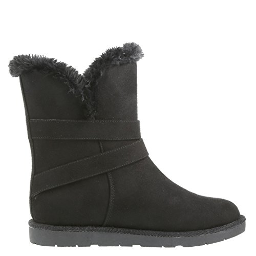 Black Suede Airwalk Nia Cozy Women's Boots Xw6T6IAq