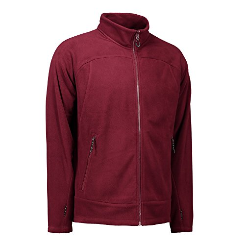 Active In Giacca Uomo Pile Zip Id Mix Rosso N qf1CZ7