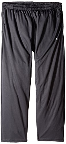 Mens Athletic Russell Sweatpants (Russell Athletic Men's Big & Tall Solid Dri-Power Pant, Dark Grey, 2X)
