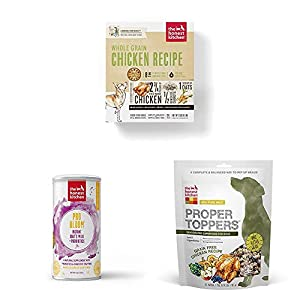 The Honest Kitchen Puppy Dog Food Kit - Human Grade Chicken Dog Food, Instant Goat's Milk Supplement and Dog Food Toppers