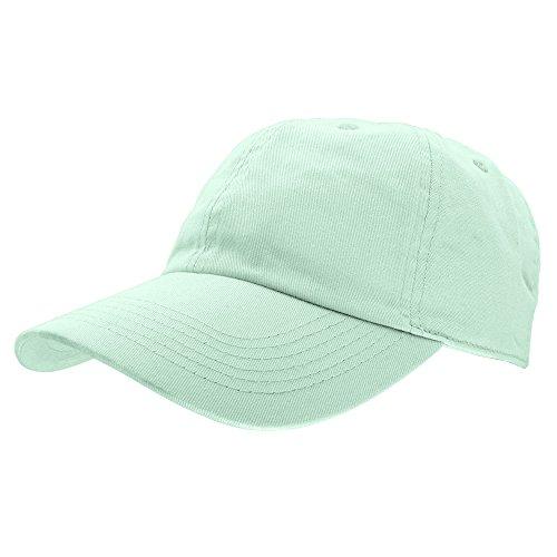 Falari Baseball Cap Hat 100% Cotton Adjustable Size Aqua Blue (Cotton Baseball Caps)