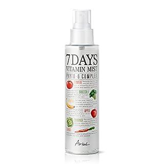 Ariul Natural Facial Face Mist 7 Days Vitamin Mist 5.07 fl. oz. Green Graded Nutrients Face Toner Makeup Setting Spray - Biotin, Niacinamide, Riboflavin, Ascorbic Acid, Cyanocobalamin