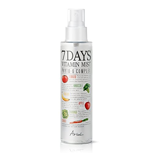 Face Mist 7 Days Vitamin Mist 5.07 fl. oz. Green Graded Nutrients Toner Moisturizing Spray - Biotin, Niacinamide, Riboflavin, Ascorbic Acid, Butylene Glycol, Cyanocobalamin (Face Mist)