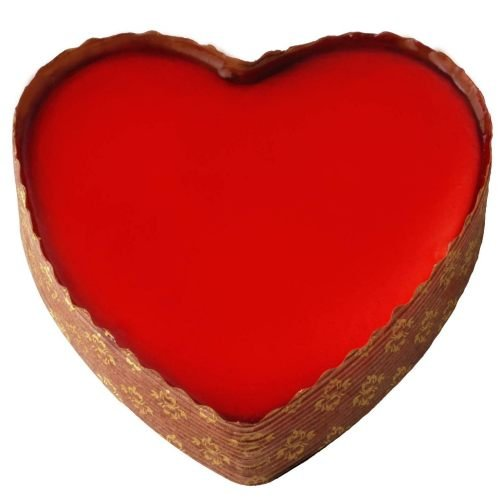 Elis Heart Topped White Chocolate Raspberry Cheesecake, 11 Ounce -- 12 per (White Raspberry Cakes)
