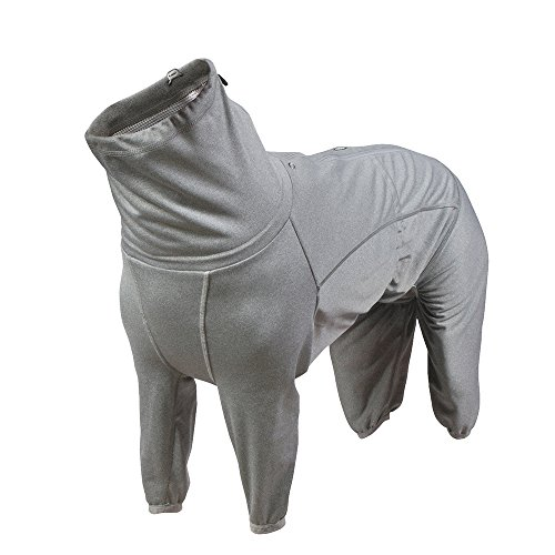 Hurtta Body Warmer Dog Body Suit, Recovery Suit, Carbon Grey, 18M by Hurtta (Image #1)