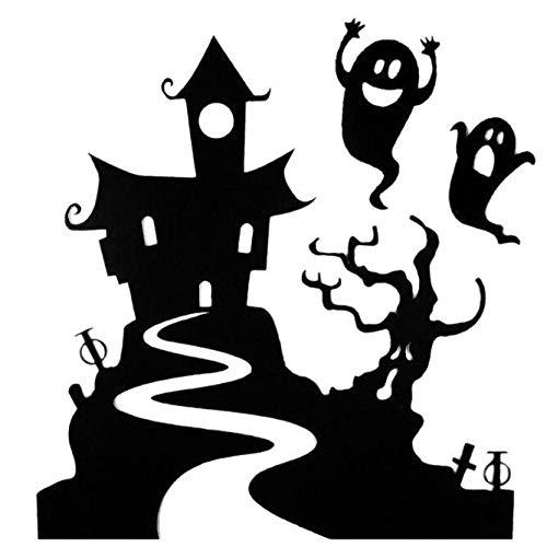 Rumas Happy Halloween Haunted House Ghost Wall Murals