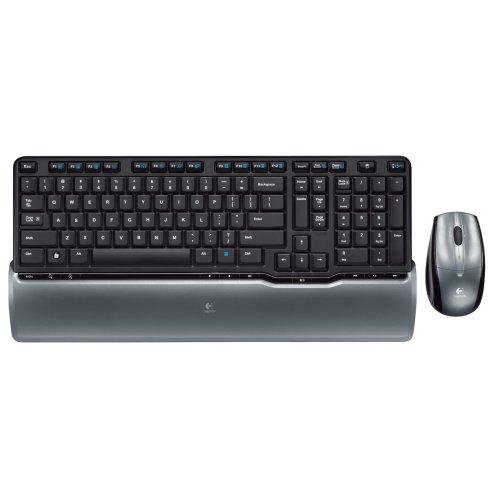 Logitech S520 Cordless Desktop Keyboard and Laser Mouse (Black/Grey)