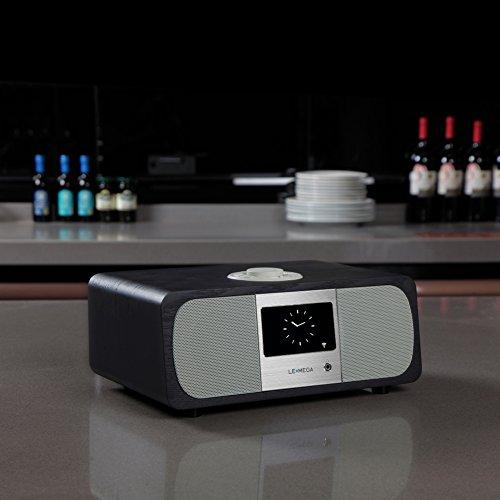 Lemega M3+ Internet Radio & Wireless Smart Speaker (HI-FI 2.1 Stereo) with FM, Bluetooth Music Streaming, Spotify Connect, Remote & App Control, Dual Alarm, Colour Display (Black Oak) by LEMEGA (Image #4)