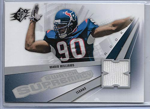 (2006 SPX Football Mario Williams Swatch Supremacy Jersey Rookie Card # SW-MW)