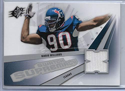 2006 SPX Football Mario Williams Swatch Supremacy Jersey Rookie Card # SW-MW (Williams Jersey Mario)