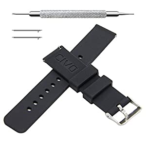 CIVO Quick Release Silicone Watch Bands Soft Rubber Watch Strap Smart Watch Band 18mm 20mm 22mm