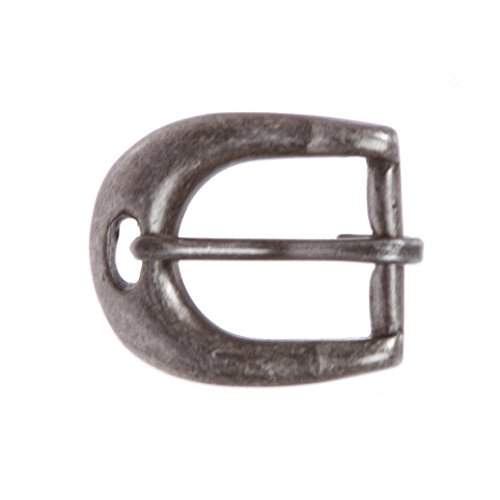 "3/4"" (19 mm) Single Prong Solid Brass Horseshoe Belt Buckle, Antique Silver from beltiscool"