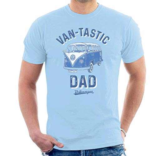 Volkswagen Van Tastic Dad Men's T-Shirt Sky (Best Hq Tees Father Tshirts)