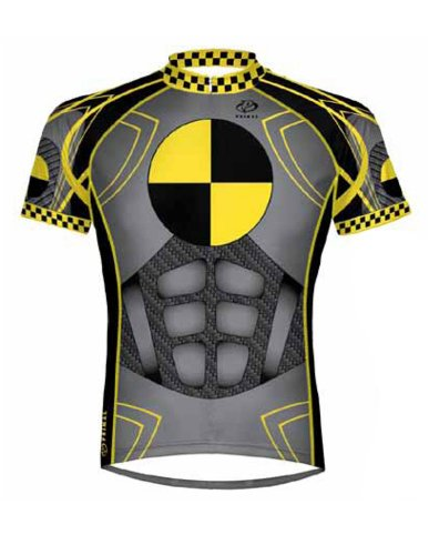 Primal Wear Crash Test Dummy Cycling Jersey Men's Short Sleeve Large