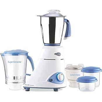 Image of Home and Kitchen Preethi Blue Leaf Platinum 550 Watts 3 Jar Indian Mixer Grinder 110 Volts