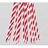 Twisted Red and White Candy Cane Pipe Cleaners Package of 144 Stems 12'' Tall