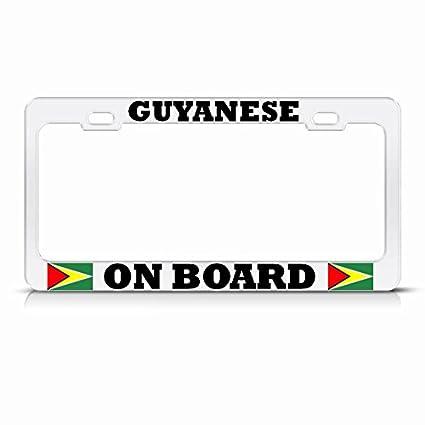 Guyana Novelty License Plate Frame Holder Aluminum Frame