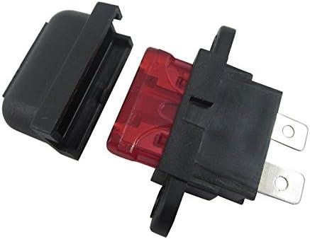 Digiten 10/A auto lama standard Portafusibile box per auto barca camion con copertura confezione da 10