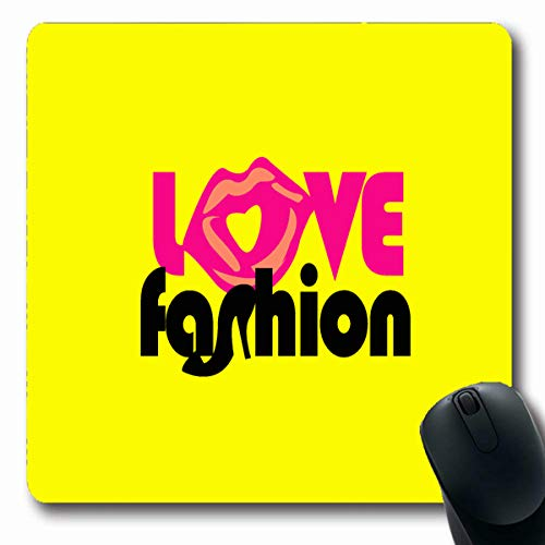 Tobesonne Mousepads Boots Pink Passion Love I is Shoes Lipstick Lip Body Boutique Care Design Oblong Shape 7.9 x 9.5 Inches Non-Slip Gaming Mouse Pad Rubber Oblong Mat