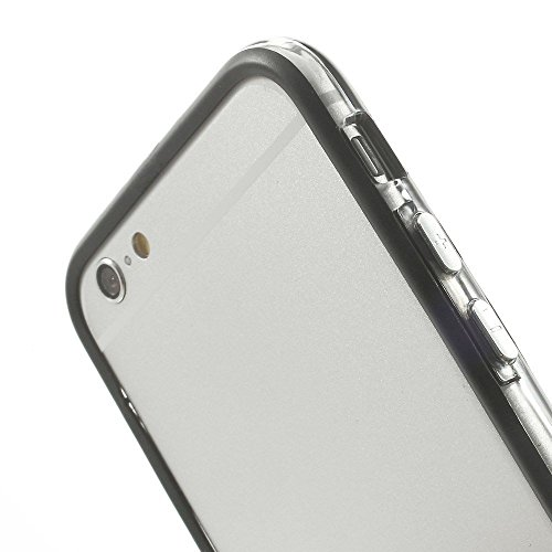 Best Style Iphone 6 Silicon Bumper Transparent Black by G4GADGET®