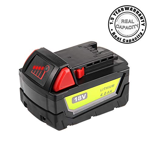 Real Capacity 4.0Ah Replacement Battery for Milwaukee 18V Battery XC 48-11-1840 48-11-1850 48-11-1828 48-11-1820 48-11-1852 48-11-1890 Cordless Power Tool Batteries -  THISSENERGYSYSTEM, TY-for Milwaukee 48-11-1840 4.0AH 1Pack