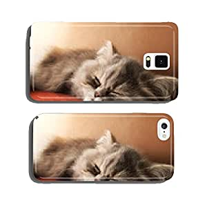 Persian cat sleeping cell phone cover case Samsung S5