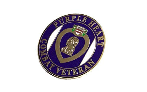 Purple Heart Combat Veteran Marines Navy Army Air Force Lapel Hat Pin PPM7507 (1 Pin)